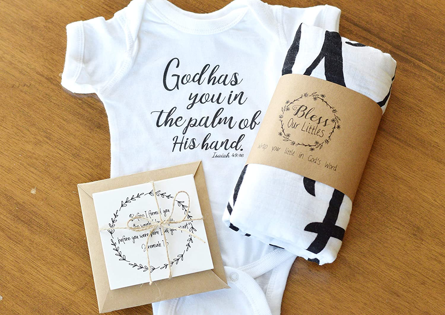 106273998 Amazon.com: Bless Our Littles Baby Swaddle Scripture Blanket with Bible  Verse Quote - Baby Shower Christening/Baptism or Dedication Gift - 100%  GOTS Muslin ...