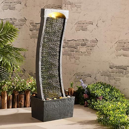 Peaktop Curvo Fuentes para jardín, Gris carbón: Amazon.es: Jardín