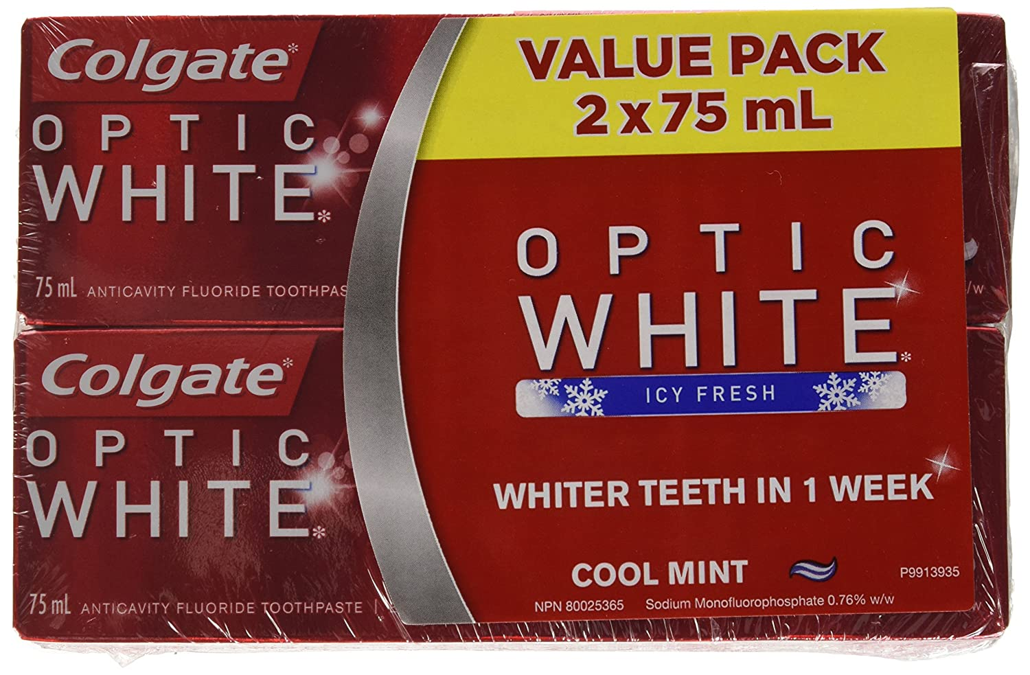 Colgate Optic White Toothpaste, Cool Mint, 75 ml 313672
