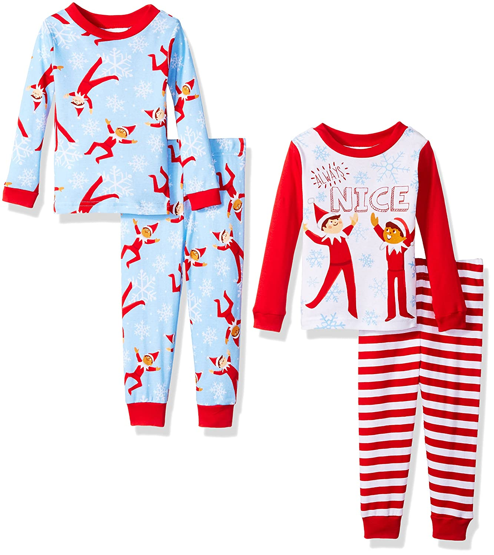Elf on the Shelf Little Boys Holiday Stripes Two-Piece Pajama Set AME Sleepwear Girls 2-6x 21EF043ELLDZ