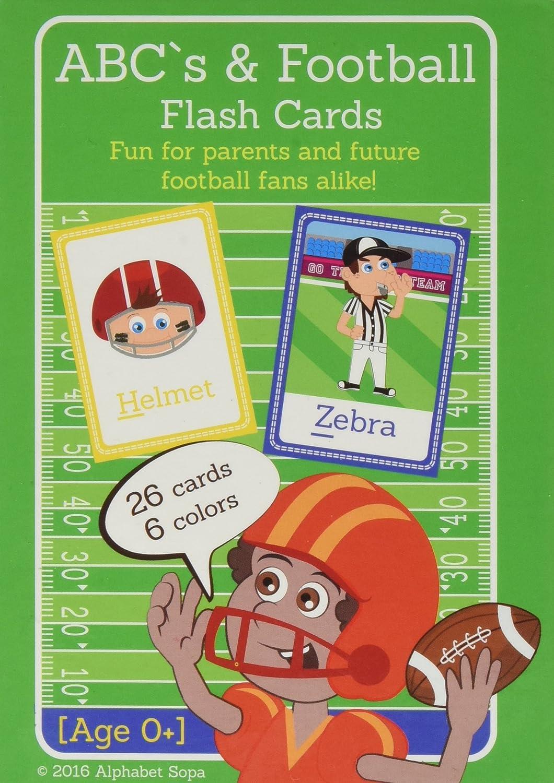 Amazon.com: ABC\'s & Football Flash Cards - Teach your child the ...