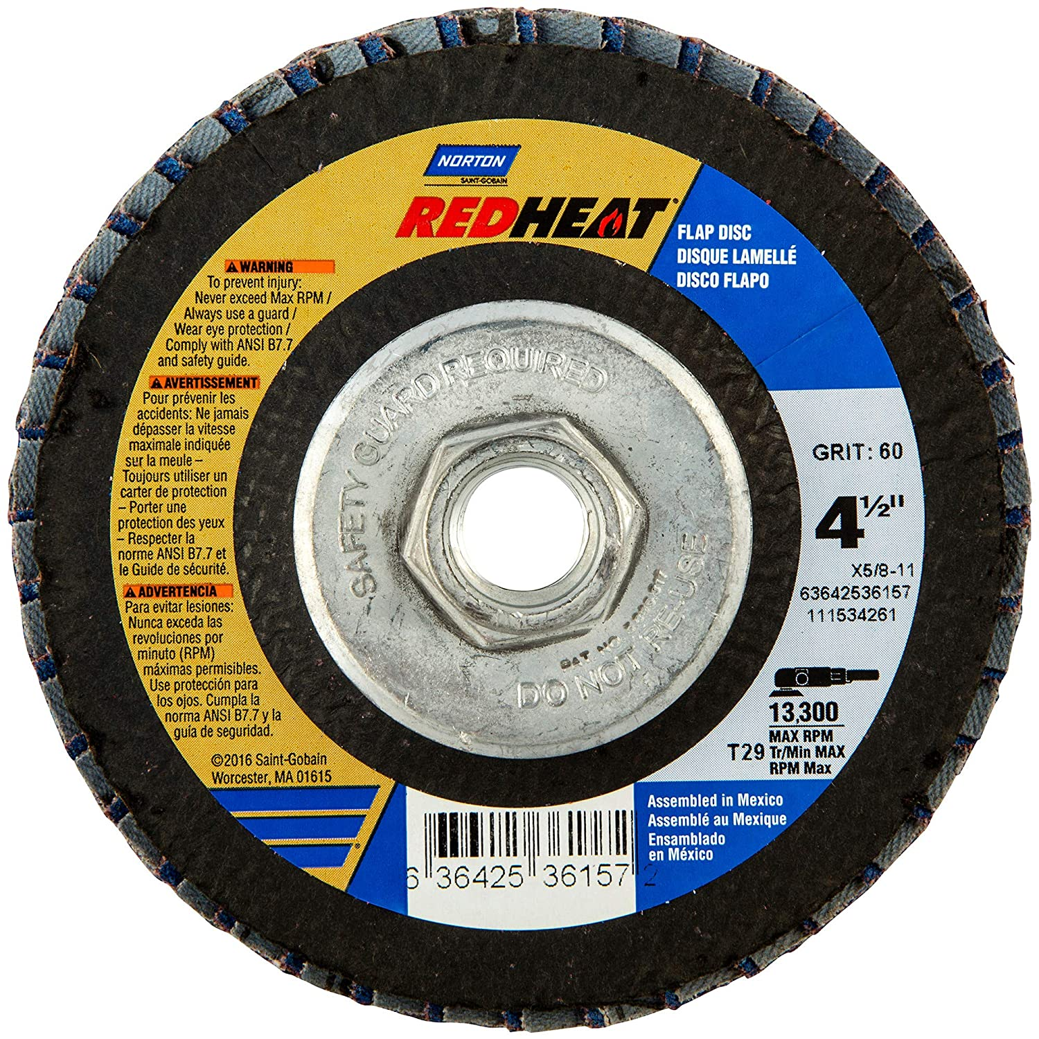 "Norton Flap Disc 7/"" X 5//8/""-11 80 Grit"