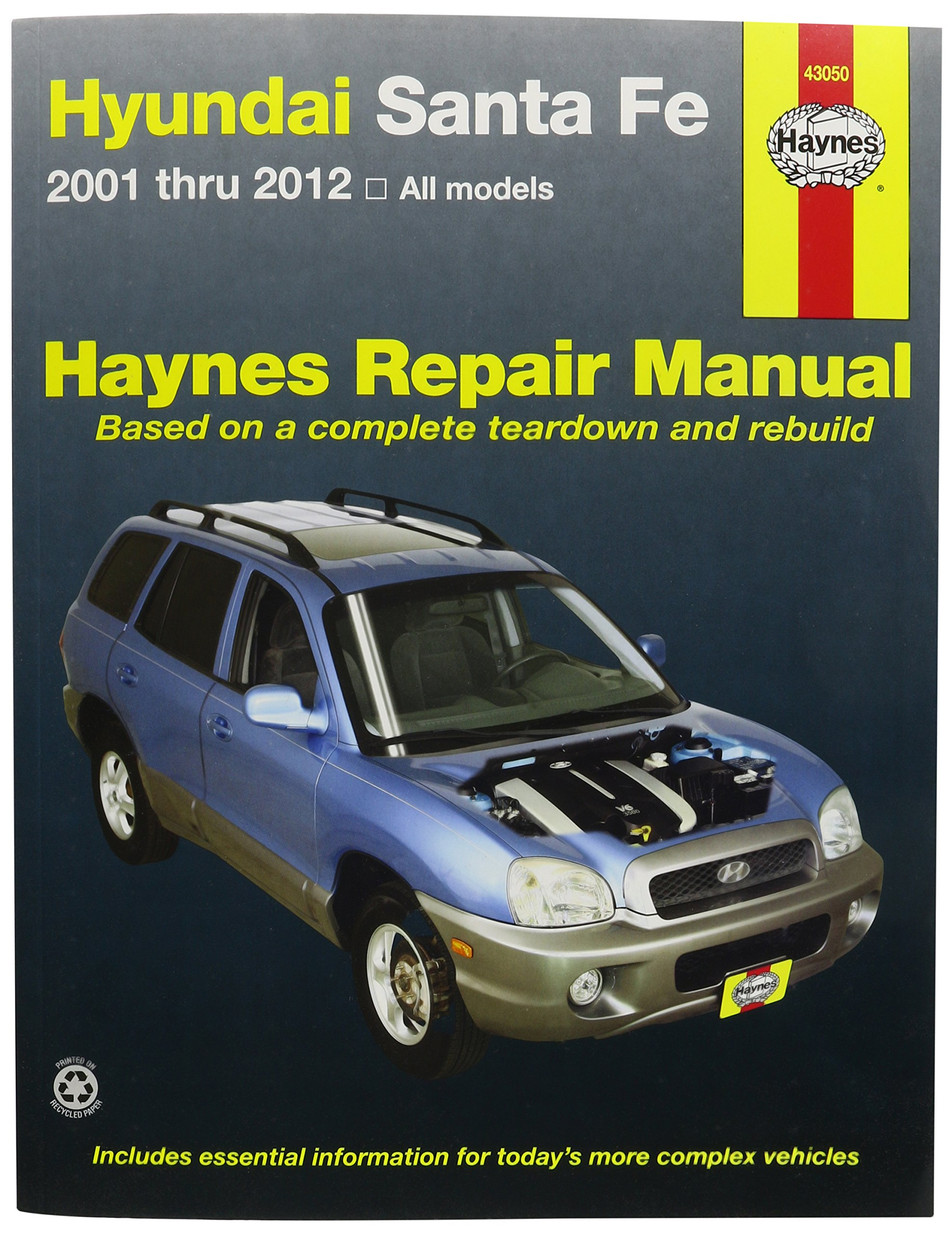 2002 Hyundai Santa Fe Fuse Box Book Content Resource Of Wiring Sonata Diagram Haynes Vc0s2 43050 Manuals Sante 2001 2012 Rh Amazon Com Ford Ranger
