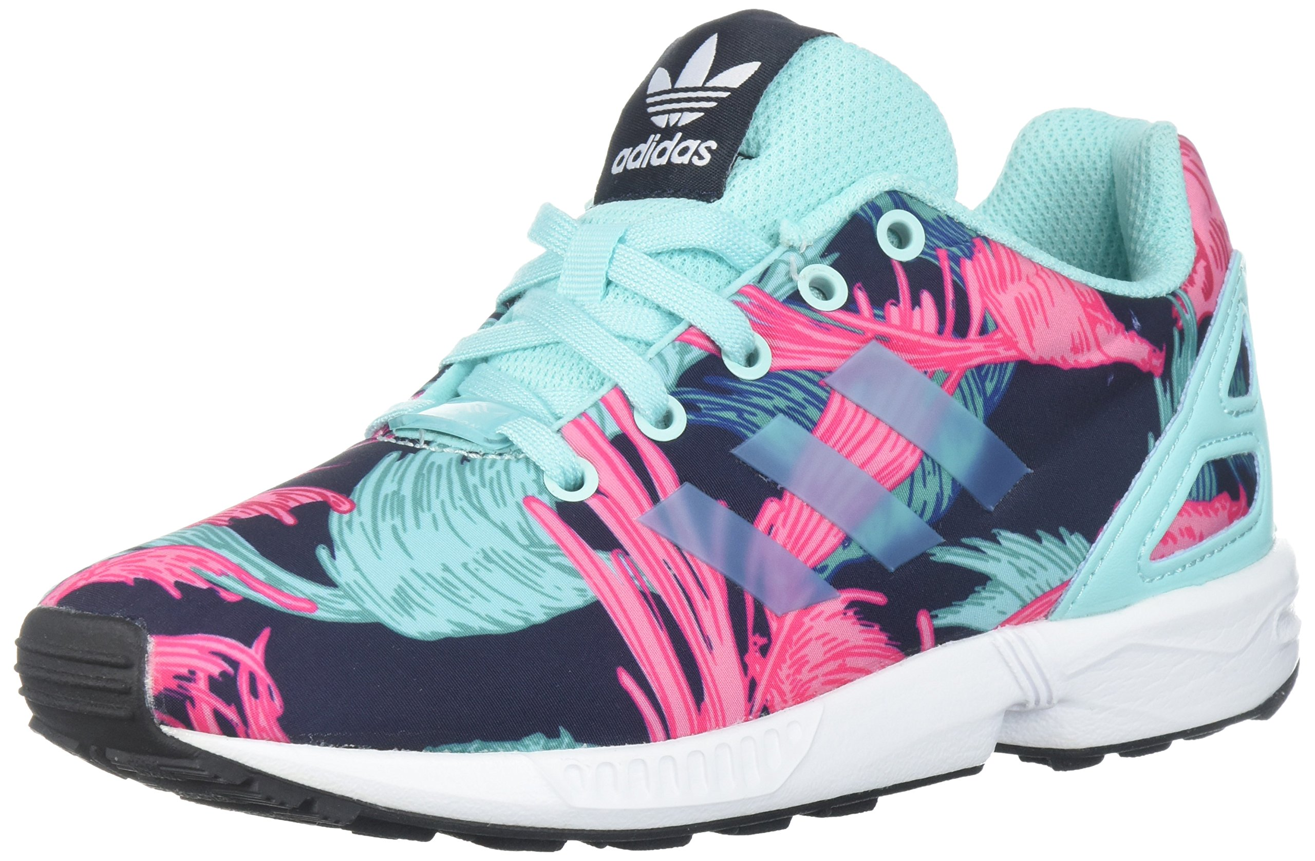 sports shoes ab3b2 b617f adidas Originals Girls' ZX Flux C Running Shoe, Energy Aqua/White, 12  Medium US Little Kid
