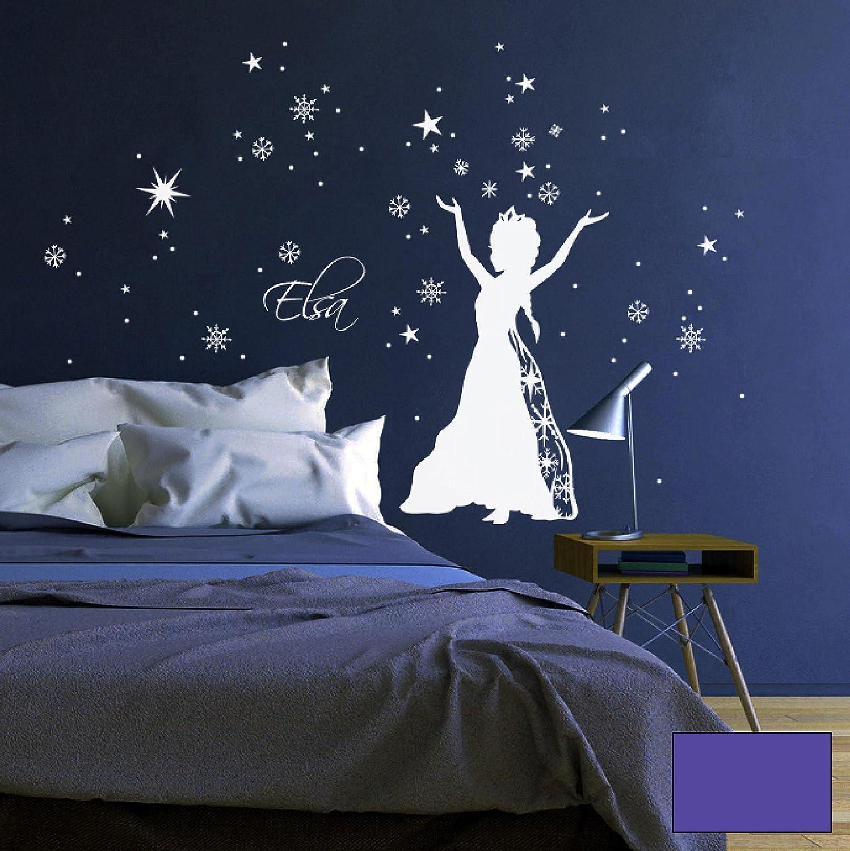 Wandtattoo Wandtattoo Wandtattoo Wandaufkleber Schneekönigin Prinzessin Frozen Sterne Schneeflocken M1647 - ausgewählte Farbe  Weiß - ausgewählte Größe  L - 80cm breit x 100cm hoch B015ZQECIY Wandtattoos & Wandbilder cb2126
