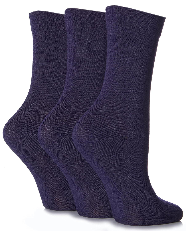 SockShop Ladies 3 Pair Gentle Bamboo Socks QGSLBK