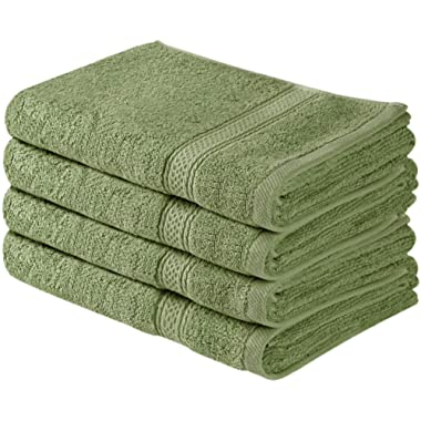 Utopia Towels Cotton Large Hand Towels (Sage Green, 4-Pack,16 x 28 inches) - Multipurpose Use for Bath, Hand, Face, Gym and Spa