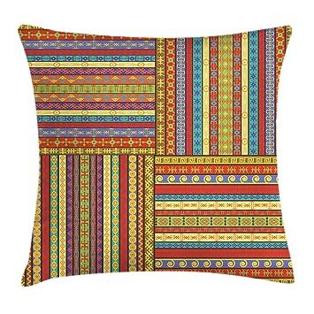 Amazon.com: Ambesonne - Funda de cojín africana, diseño de ...