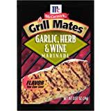 McCormick Grill Mates Garlic, Herb & Wine Marinade, 0.87 oz (Pack of 12)