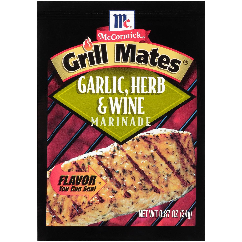McCormick Grill Mates Garlic, Herb & Wine Marinade Mix, 0.87 oz, Pack of 12