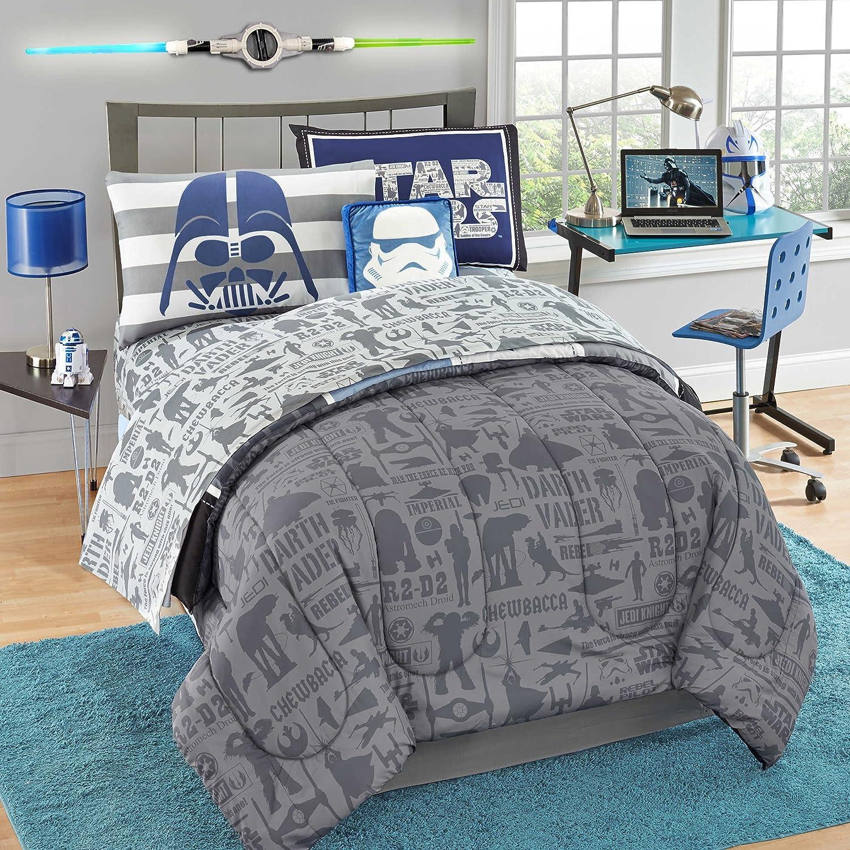 Star Wars Duvet Maul Vader Bedding set Twin, Queen, King size bedding, bedroom bedding set plus 2 pillow covers, housewarming, room decor DuvetBedding $