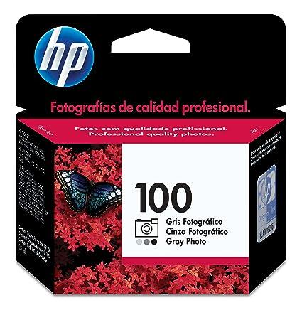 HP 100- Cartucho de impresión fotográfica (gris): Amazon.es ...