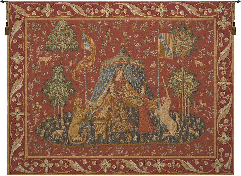 51 x 60 Wall Tapestry Kess InHouse Alison Coxon Tokyo Garden Teal Maroon Digital