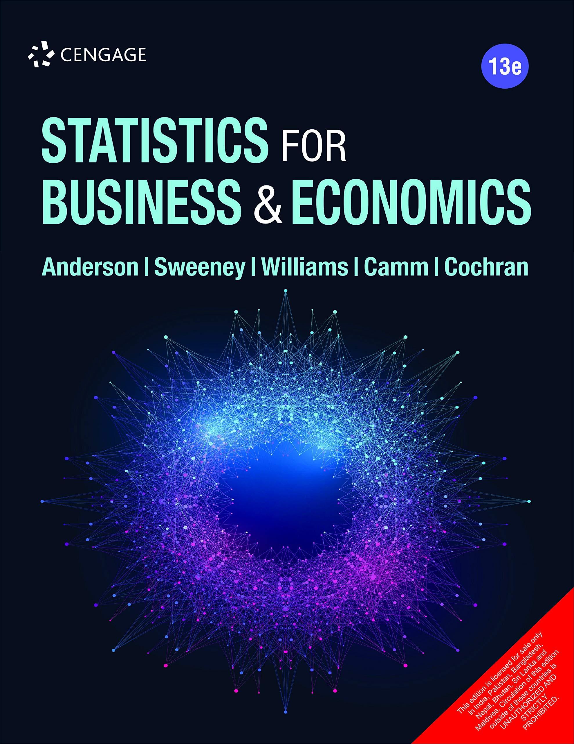 Statistics for Business & Economics, 13E