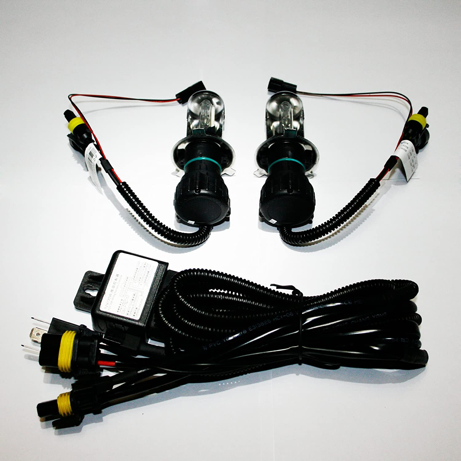 H13 9008-5000K Innovited 55W HID Xenon Bi-xenon Hi//Lo Dual Beam Replacement Bulbs With Relay Harness Controller