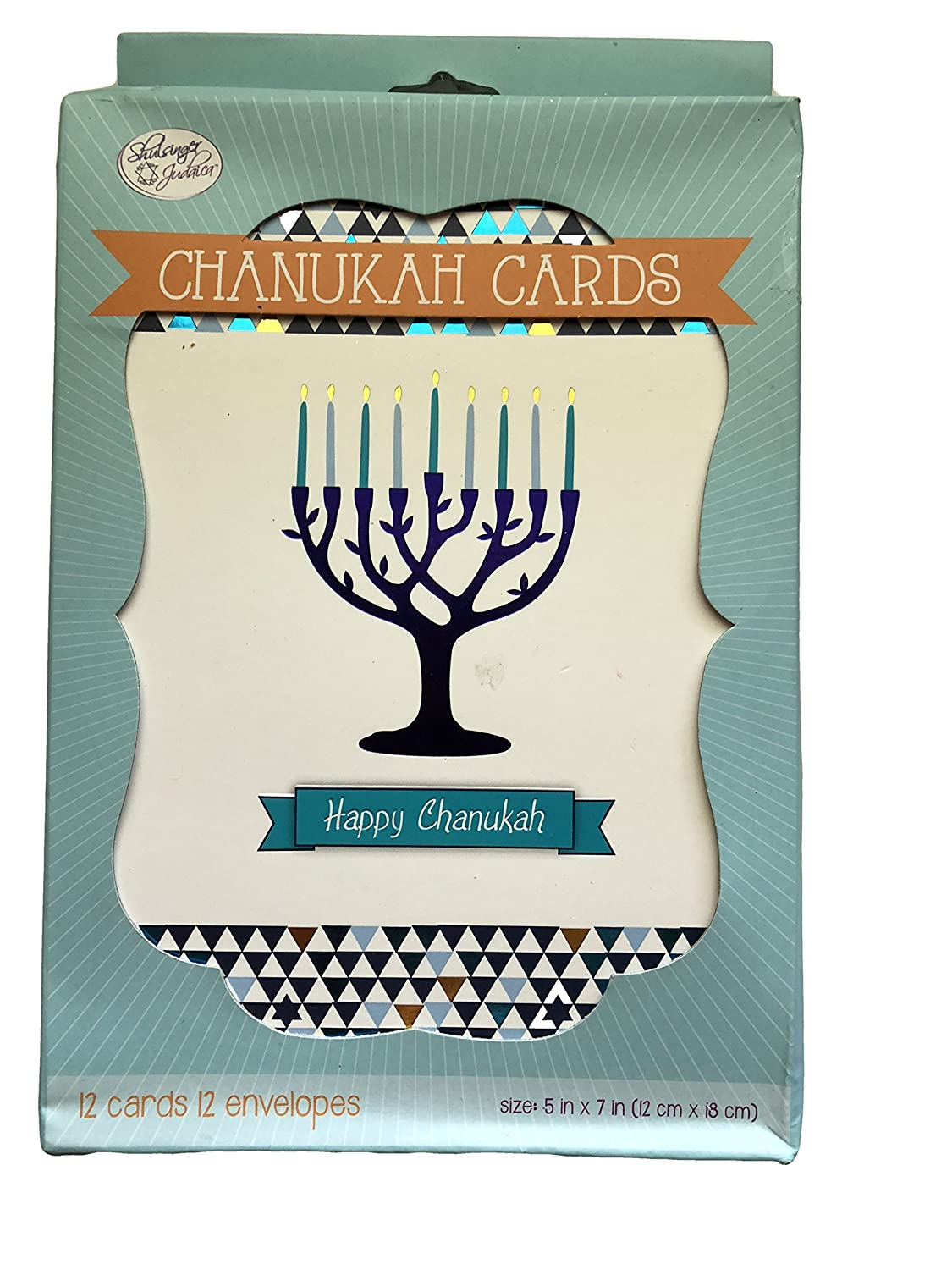 Amazon Chanukah Cards Box Set Of 12 Colorful Candles