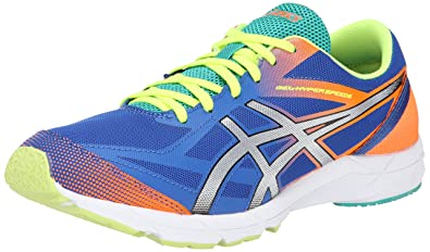 ASICS Men's Gel-Hyper Speed 6 Running Shoe,Blue/Silver/Flash Orange