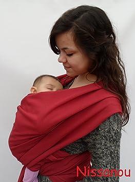 NISSANOU porte bébé ECHARPE DE PORTAGE neuve BORDEAUX idée cadeau naissance 764dd0406d2
