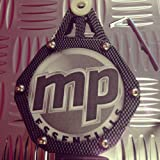 MP Essentials Motorcycle, Scooter, Quad & Motorbike Polished Carbon Fiber Effect Anti Theft Waterproof Tax Disc Holder