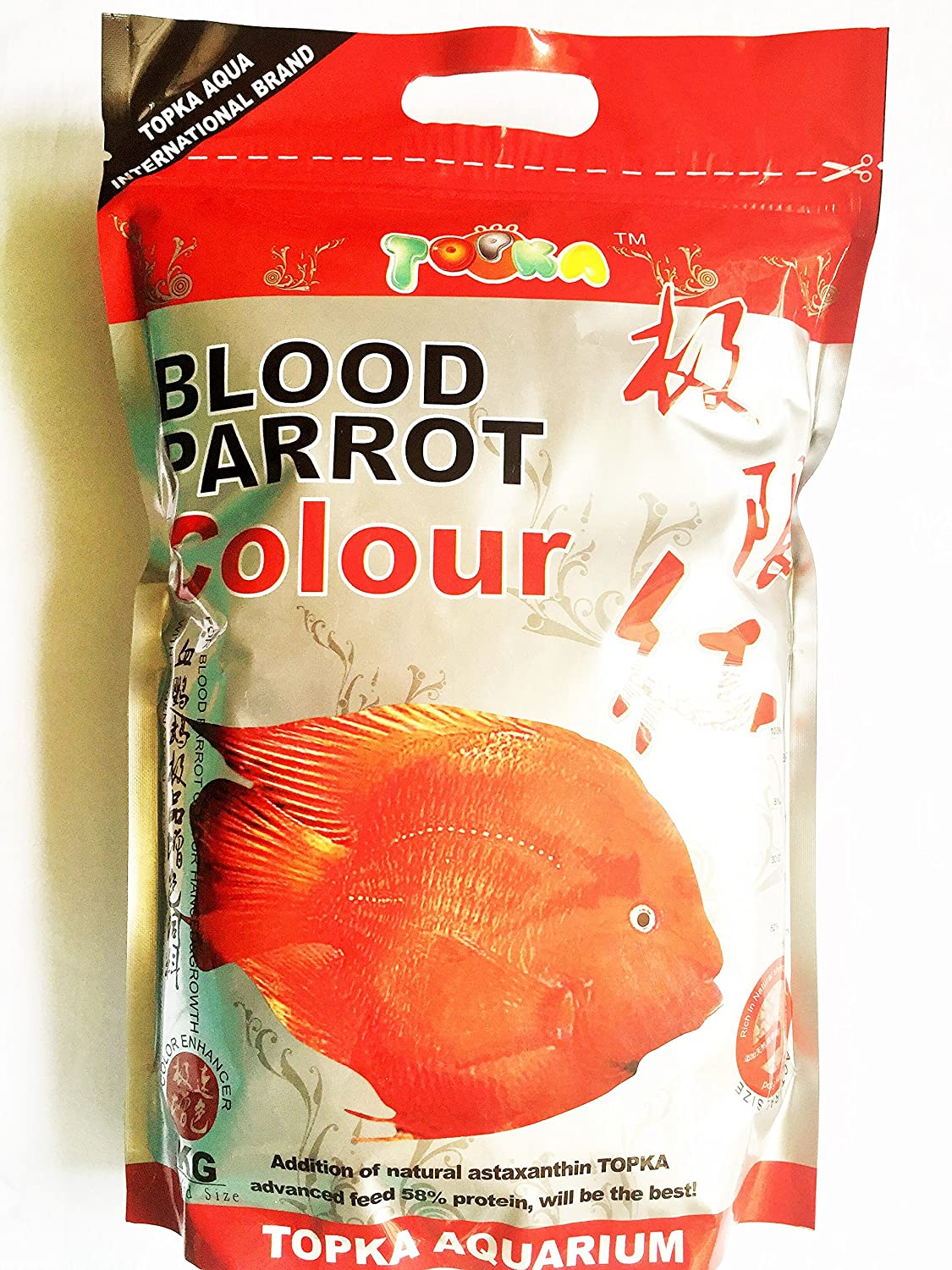 Buy Topka Imported Blood Red Parrot Color Enchancer & Growth 1Kg ...