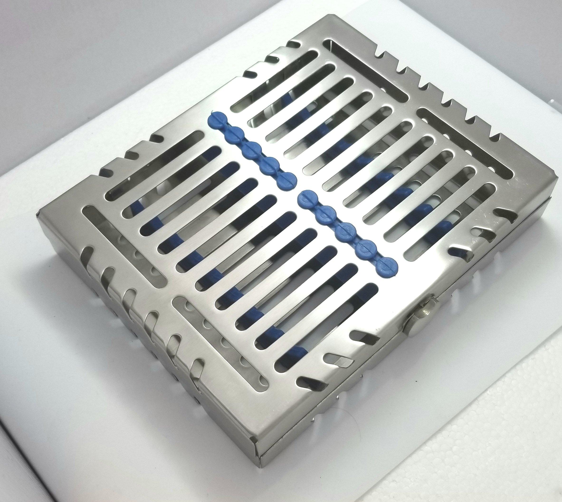 Sterilization cassette tray rack Premium design dental surgical lab 7.25''X5.75''X1.4'' ARTMAN brand by Wise Linkers