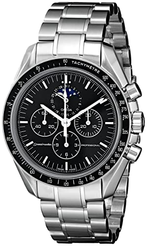 Omega de hombre 35765000 Speedmaster analógico automático para hombre plateado reloj: Omega: Amazon.es: Relojes