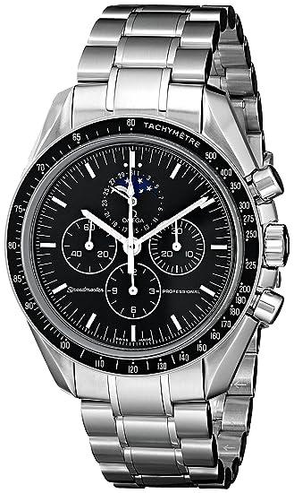 Omega de hombre 35765000 Speedmaster analógico automático para hombre plateado reloj