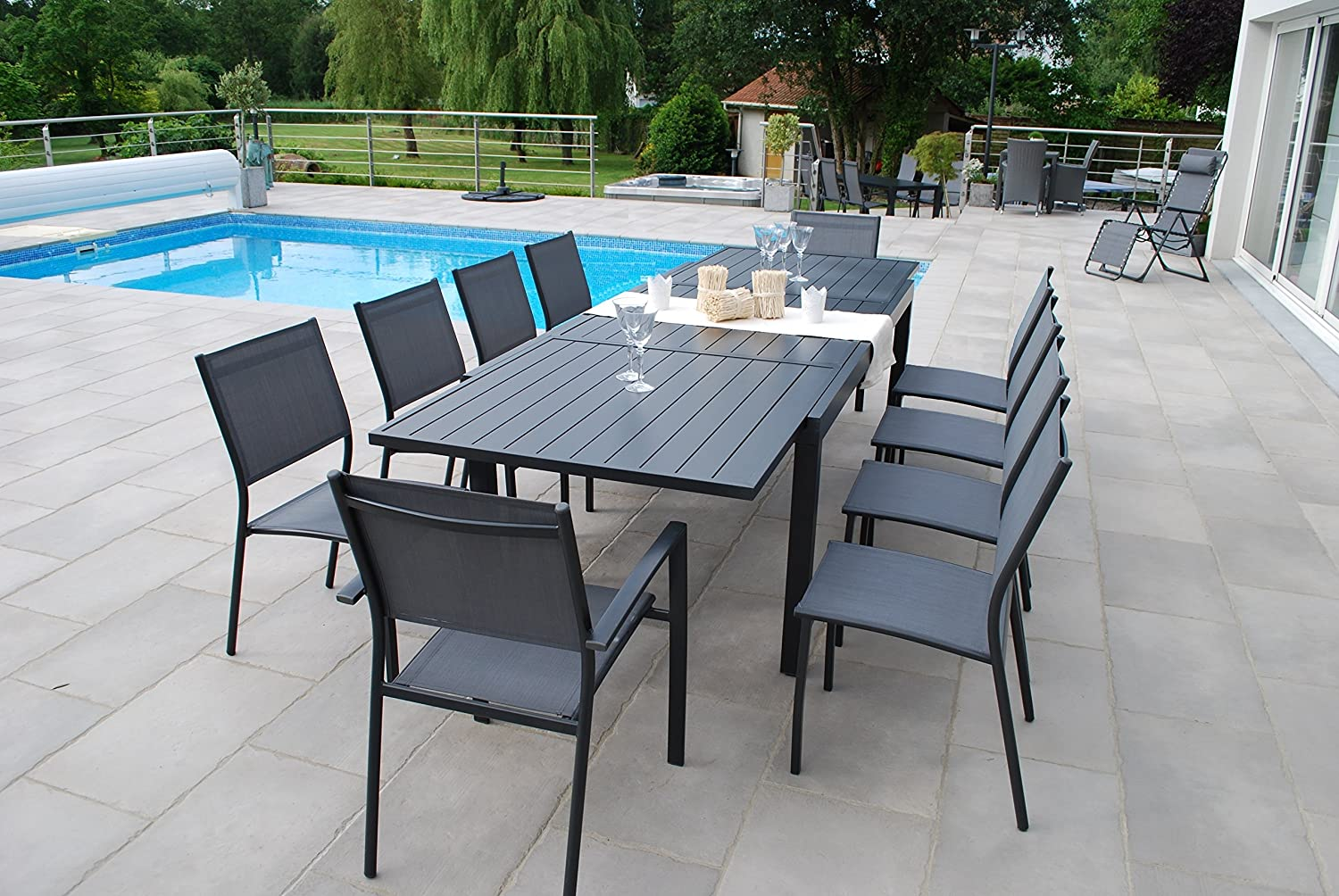 Salon de jardin Vital 300 - 200/300x100 cm Extending Dining ...