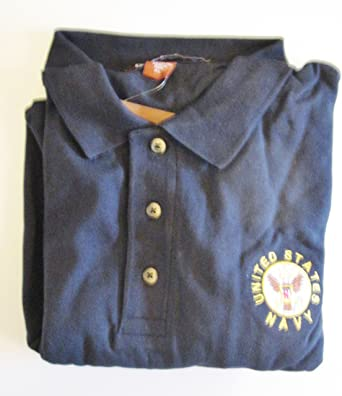 UNITED STATES NAVY EMBROIDERED EMBLEM  POLO SHIRT