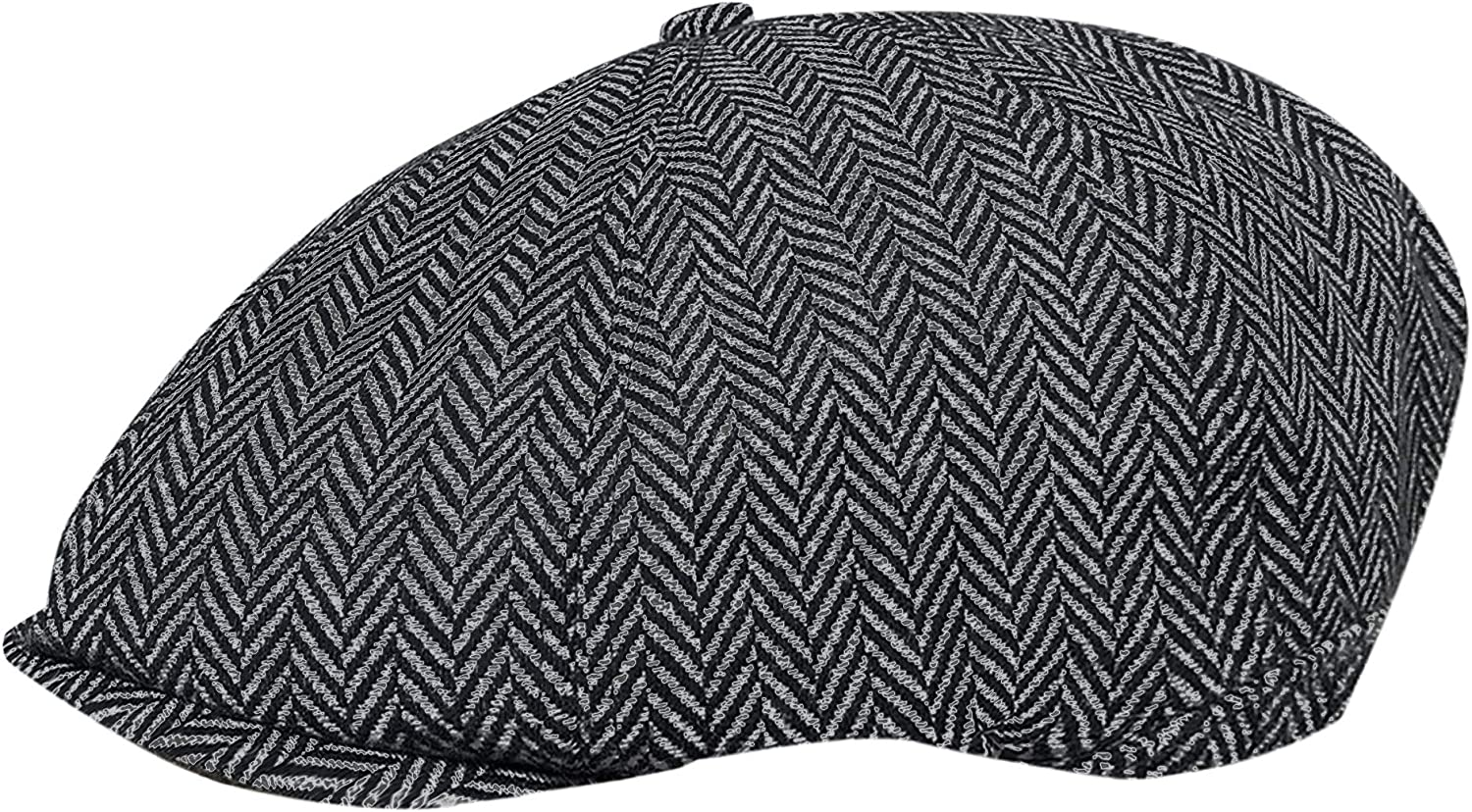 Ladies 8 Panel Herringbone Tweed Wool Blend Baker Boy Newsboy Flat Gatsby Hat Cap TOSKATOK/® Unisex Mens