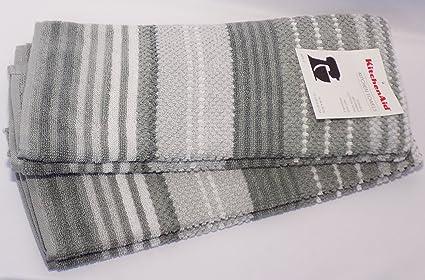 Amazon.com: KitchenAid Kitchen Towel Set 2 - Contour Silver ...