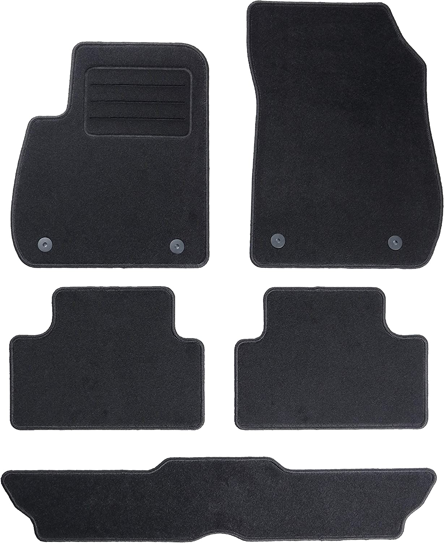 Carmat Texer Textil Fußmatten Passend Für Opel Zafira C 7 Sitzer Bj 2012 Basic Auto