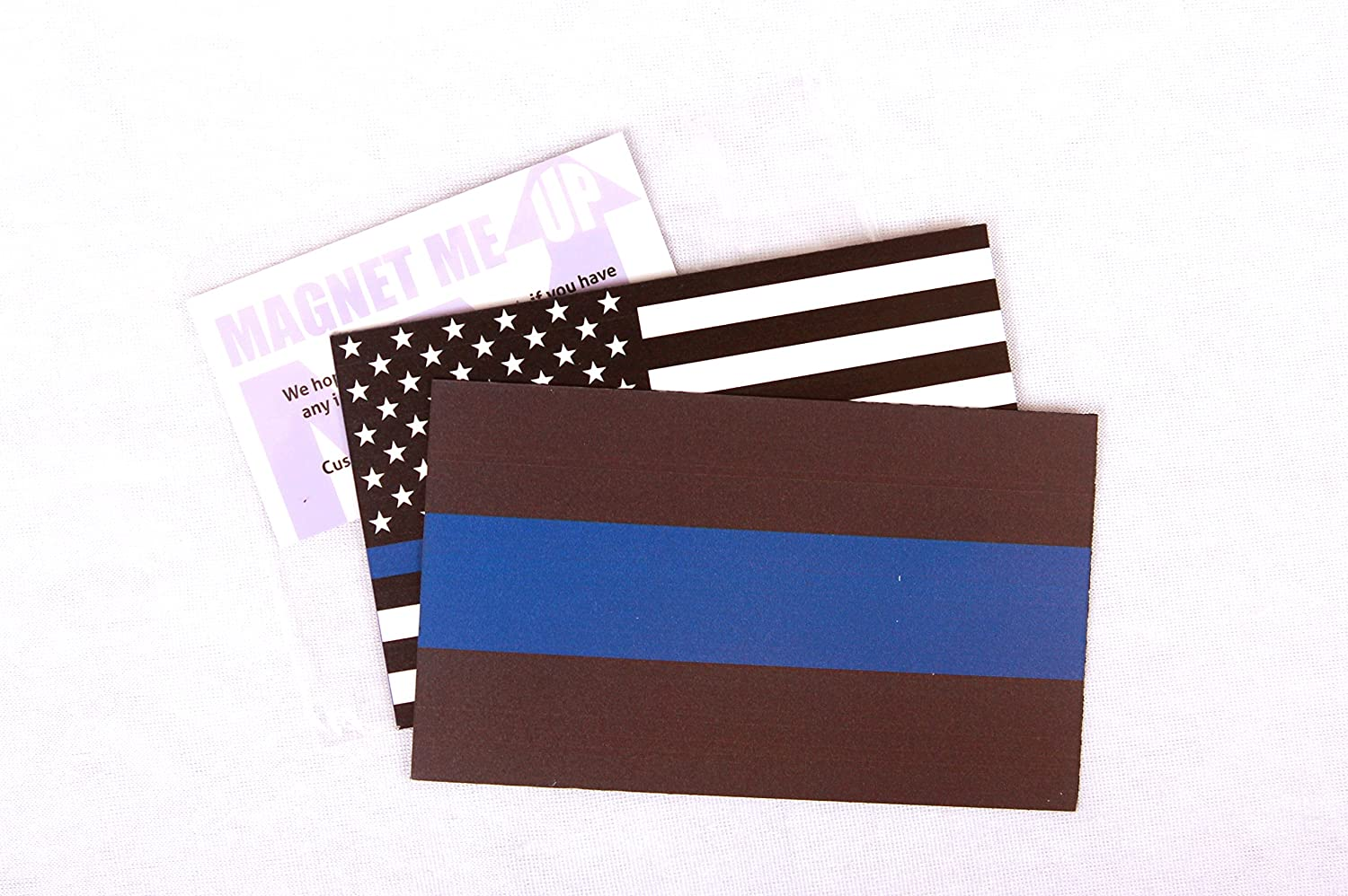 in Support of Police and Law Enforcement Officers Heavy Duty for Car Truck SUV 2 Pack Thin Blue Line and Thin Blue Line American Flag Magnet Decal 3x5