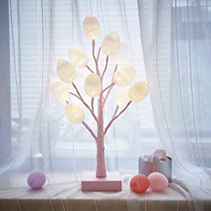 Win A Free Hairui Pastel Tree Lights with White Eggs 12LED 18IN Cute...