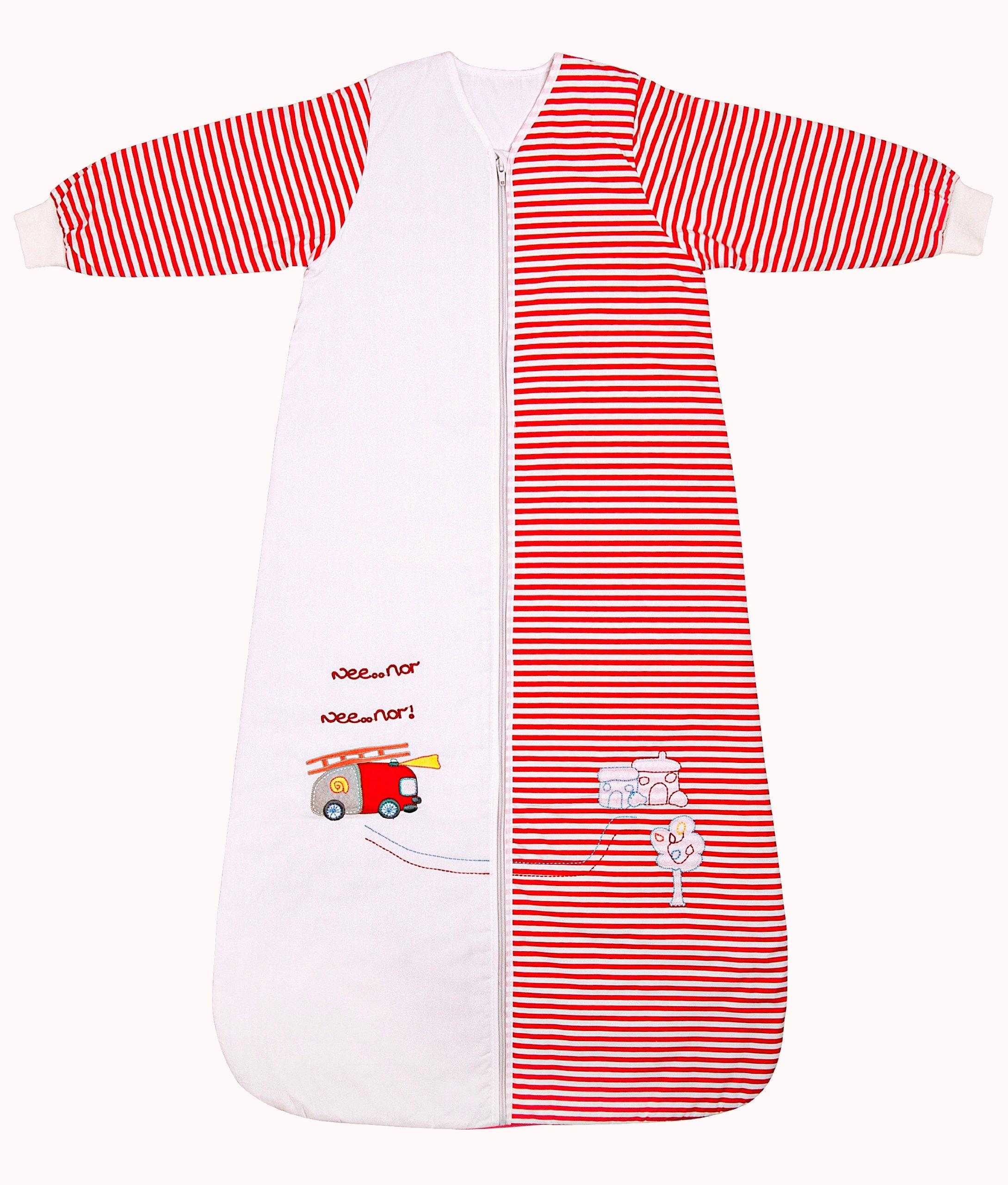 Slumbersac Winter Kid Sleeping Bag Long Sleeves 3.5 Tog - Fire Engine, 3-6 Years/XL by Slumbersac