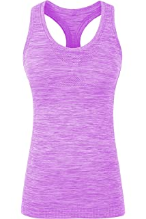 40afec687461e YAKER Women s Active Fitness Workout Soft Stretch Racerback Yoga Tank Top  Shirt