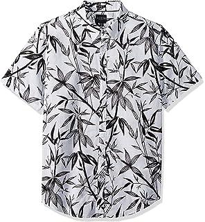 Guess Mens Short Sleeve Bamboo Print Shirt