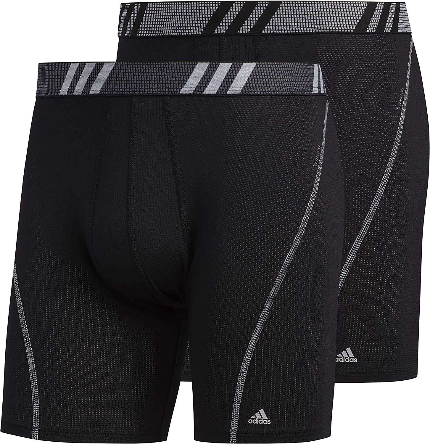 adidas Men's Performance Mesh Boxer Briefs Underwear (2-Pack)