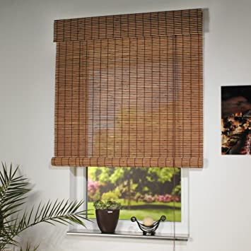 Beliebt Amazon.de: Liedeco Rollo Holz mit Seitenzug, Holzrollo für Fenster RS83