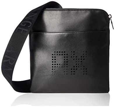 f0e7bdeab2a Armani Exchange Perforated Leather Men s Messenger Bag