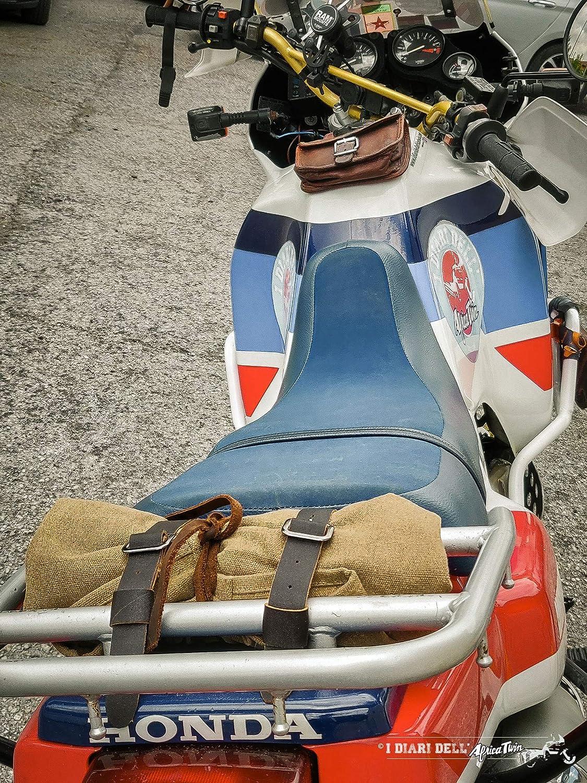 Porta attrezzi moto borsa rotolo canvas artigianale motorcycle tool roll I diari dellAfrica Twin