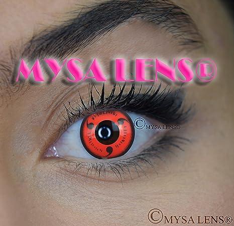 2c9431fb4b Mysa Lens - Lentes de contacto de color, de fantasía, para disfrazarse de  Naruto