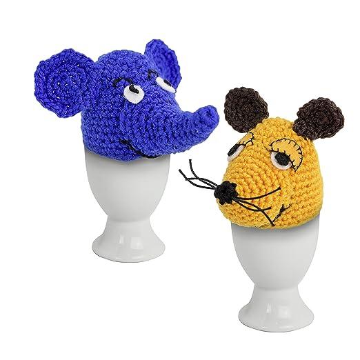 Wenco Die Maus Komplett Häkelset Für 2 Eierwärmer Maus Und Elefant