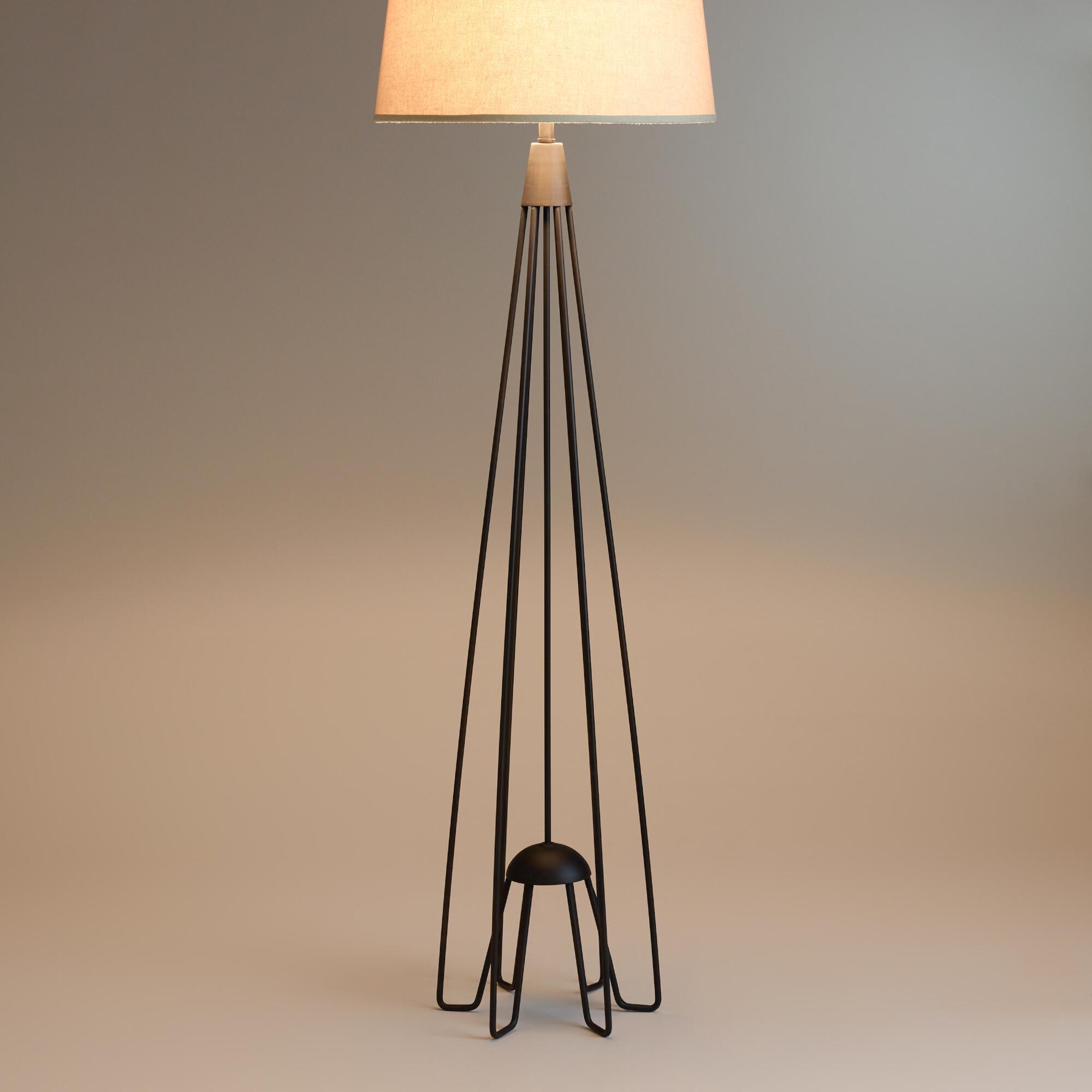 Iron Hairpin Kent Floor Lamp Base | World Market