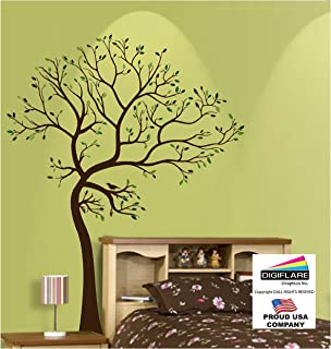Amazoncom MATTE FINISH BIG Tree With Birds Wall Decal Digiflare - Yellow bird wall decals