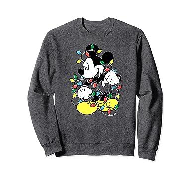 unisex disney mickey mouse christmas lights sweatshirts 2xl dark heather - Mickey Mouse Christmas Lights