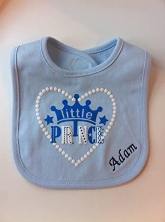 Personalised little prince blue bib great baby gift amazon personalised little prince blue bib great baby gift negle Choice Image