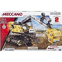 Meccano by Erector, 2-in-1 Model Set, Excavator and Bulldozer
