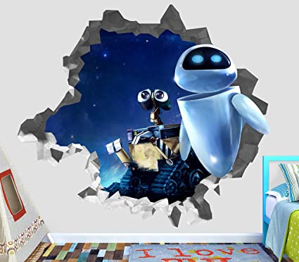 Wall-E Movie Robots Eve Future Planet Earth Wall Decal Sticker Vinyl Decor Door Window
