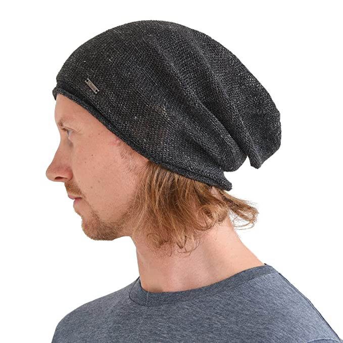 165252738 CHARM Hemp Beanie Hat for Summer - Mens Slouchy Beanie Womens Baggy Knit  Cap Cooling Hat